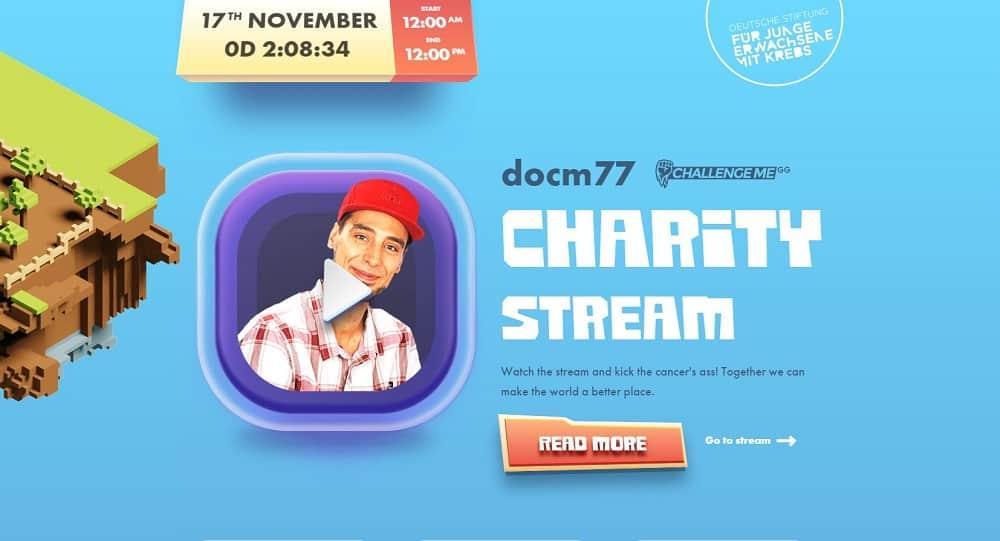 Gamer gegen Krebs! Heute ab 12:00 auf Twitch. Charity Stream mit Docm77 10